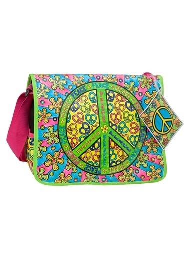 Alex 509P Çantanı Boya Barış Temalı Renkli Renkli